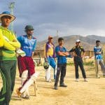 Cricketers waited to practice at a cricket academy in Bagrami, on the outskirts of Kabul.